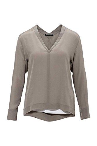Drykorn Damen Bluse Seidenbluse ZENITA, Farbe: Taupe, Größe: S