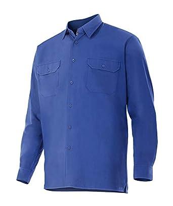 Camisa de Manga Larga c/Botones, 2 Bolsillos - SERIE 520 - para Trabajo, Industria, Almacén, Profesionales - Hombre/Caballero (M, Azul Marino): Amazon.es: Industria, empresas y ciencia