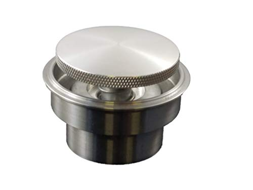 Rullo Stealth Paintable Raw Aluminum Pop Up Gas Cap w/Steel Weld in Bung