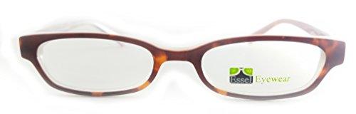 ES151 Plastic Rectangular Oval Eye Glasses Full Frame (Brown Marble, - Oval Frames Plastic Eyeglass