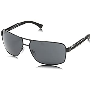 Emporio Armani EA2001 Sunglasses-301487 Black (Gray Lens)-64mm
