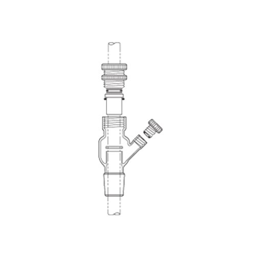 Image of ACE Glass 8066-233 Glass Debris Trap, 35/25 Joint, 10 mm Diameter Adapters