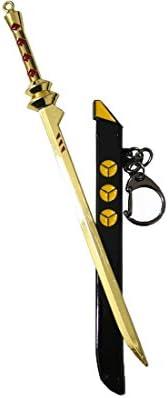 Llavero espada Ninja negro y oro cosplay Pidak Shop: Amazon ...