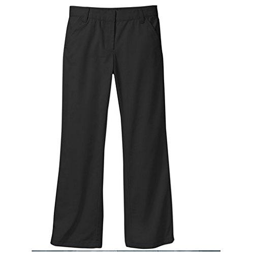 George Girls' School Uniform - Flat Front Pants (4, Black)