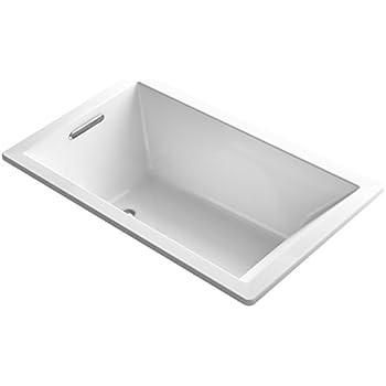 KOHLER K-1848-0 Underscore 60-Inch x 36-Inch Drop-In Bath with Reversible Drain, White