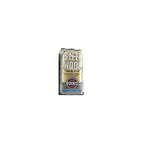 Homax Group 106600-06 #0000 Super Fine Steel Wool 16 Pads per Pack (16 Pads (6 Pack))