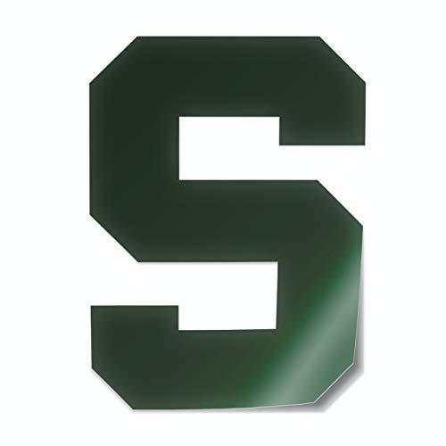 - Michigan State University Spartans Block S Logo Car Decal Bumper Sticker Laptop Sticker (Green)