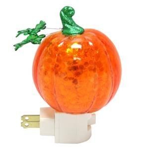 Roman Pumpkin Plug in Night Light with Swirling Confetti, 7-Inch (Ideas For A Halloween Night)
