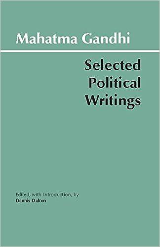 Gandhi Selected Political Writings Hackett Classics