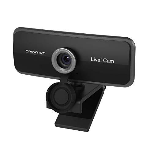 🥇 Creative Live! CAM Sync 1080p – Webcam de Alta definición Completa con Gran Angular y micrófono Dual Integrado