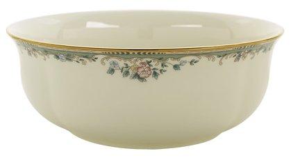 Lenox Spring Vista Gold Banded Ivory China Serving Bowl (Vista Fine Spring Dinnerware)