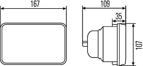 Izquierda o Derecha faro principal HELLA 1AB 003 177-791 Hal/ógena /Óptica de faro