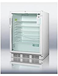Summit SCR600LPLUSADA Refrigerator, Glass/White