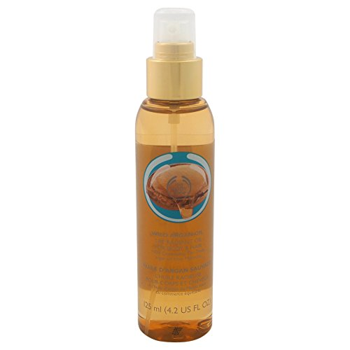 The Body Shop Wild Argan Oil Radiant Oil for Body and Hair, 4.2 Fl Oz