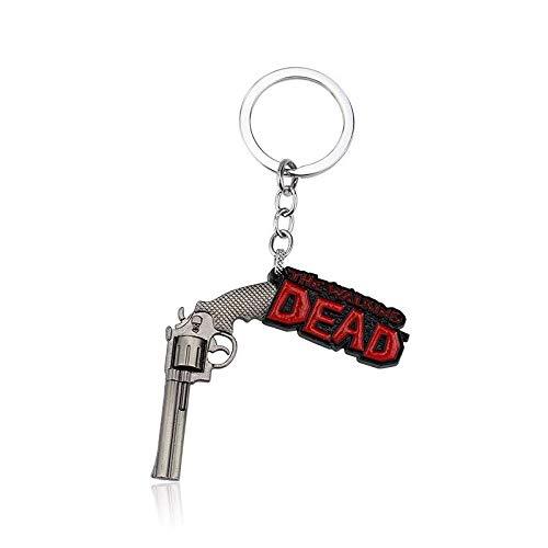 WoloShop Llavero Pistola The Walking Dead Logo Plata ...