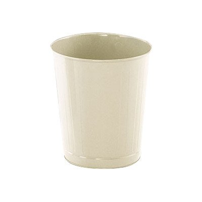 6.5-Gal Small Round Wastebasket [Set of 6] Color: Black