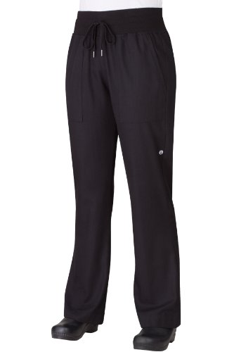 Chef Works PW004 Womens Comfi Pants Medium Black