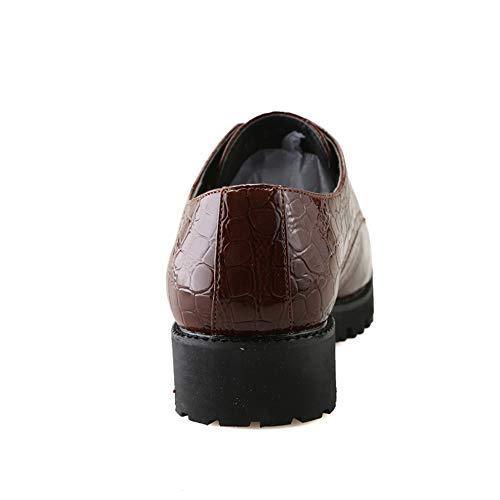 Scarpe Casual Strisce Marrone Formali Uomo Punta di Coccodrillo Cricket Bassa Oxford Spesso Business da con Fondo a da e Scarpe qAYSwa