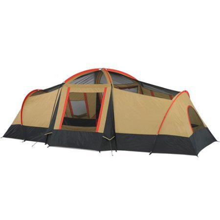 Ozark WMT922.2A Trail 10-Person 3-Room Vacation Tent Fits 3 Queen Air Mattresses With Built-In Mud Mat