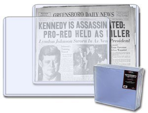 11.75 X 13.25 x 7 mm - Newspaper Topload Holder Bundle of 5 (Archival Storage Newspaper)