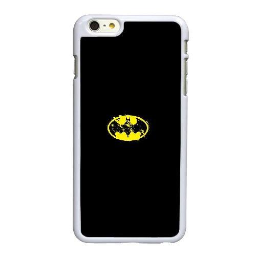 Q5Y50 Batman Logo peint U3E1KL coque iPhone 6 Plus de 5,5 pouces cas de couverture de téléphone portable coque blanche FW7LOH3SU