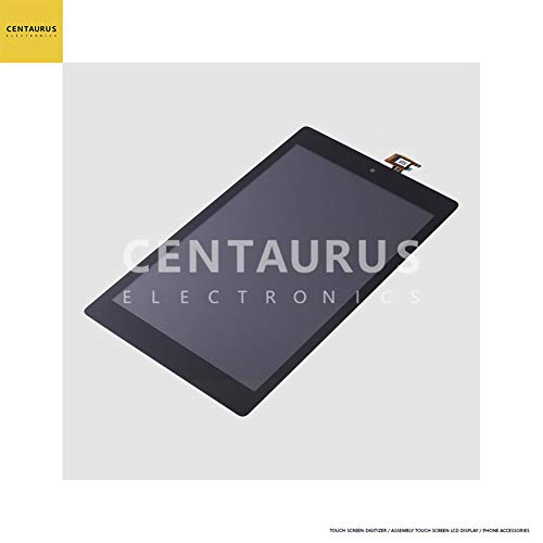 CENTAURUS Replacement for Amazon Fire HD8 2017 Assembly, LCD Display Touch Screen Digitizer Part Compatible with Amazon Fire HD8 HD 8 2017 (7th Gen) (Black)
