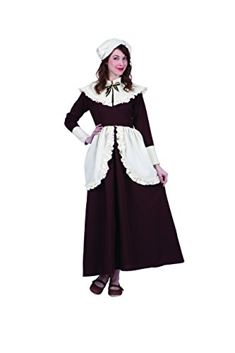 (RG Costumes Women's Colonial Lady Abigail, Brown/Cream,)