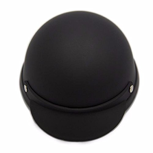Helmet for Dogs, Cats and All Small Pets, Pet Accessory - Black Matte (M for 13-20 lbs)