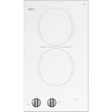 Summit CR2110WH Electric Cooktop, White