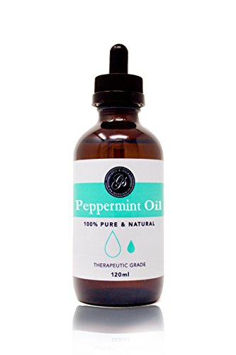 100% Pure & Natural Peppermint Oil - LARGE 4oz (120ml) - (Mentha Peperita) - Therapeutic Grade - Great for Massage Therapy, Bath Soak, Aromatherapy, Skincare, Home Fragrance by Grace & Stella Co.