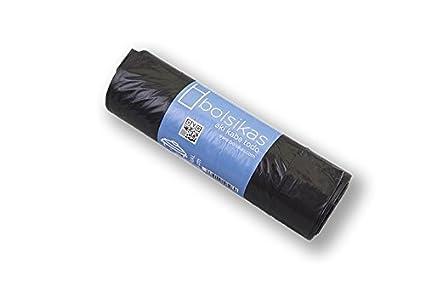 BOLSIKAS Bolsa de Basura Negra 100 litros / 1400 Ind 85x105 ...