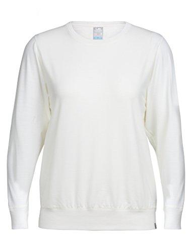 (Icebreaker Merino Women's Mira Long Sleeve Crew Neck Shirt, Snow, Large)