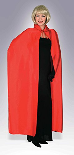 Cape 56 Polyester Costumes (Forum Novelties Men's 56-Inch Costume Cape, Red, One Size)