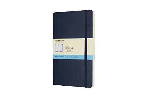 Moleskine Classic Notebook Large Dot Sapphire Blue Softcover (8055002854764)