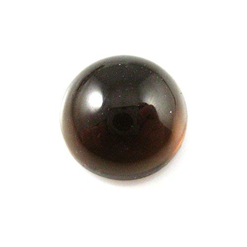 (Cabochon Gemstone-Smokey Quartz -Round Cabochon - Semi Precious Beads-Grade A -10mm-5 pieces)