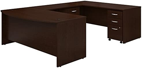 Bush Business Furniture Series C 72W x 36D Bow Front U Shaped Desk
