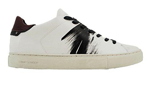 CRIME London Herren Sneaker Weiß Bianco