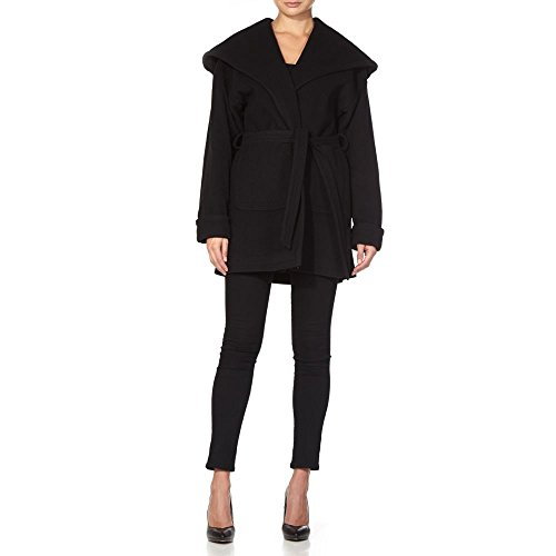 Cashmere Noir Wrap Wool Women`s Anastasia Winter Coat WAnHP4