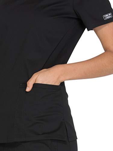 Cherokee Workwear Core Stretch Women\'s V Neck Solid Scrub Top