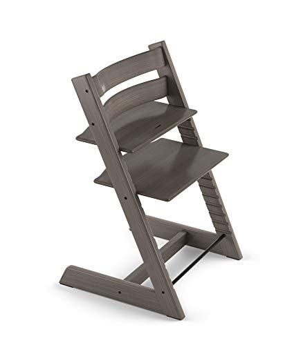 Tripp Trapp By Stokke Adjustable Wooden Hazy Grey Baby High Chair Chair Only
