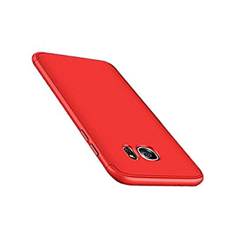 Price comparison product image Beryerbi Samsung Galaxy s6 / s6 Edge Stylish Case Thin Hard Case With 3 Detachable Parts Protection Cover (Galaxy s6 Edge,  Red)