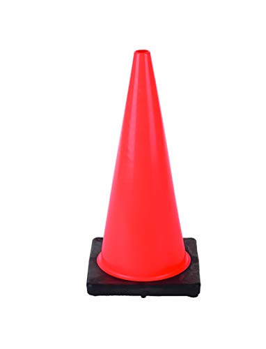 Cortina Traffic Cone, Vinyl with Black Base 03-500-05, 18