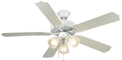 Hardware House 41-5919 Palladium 52-Inch Triple Mount Ceiling Fan Light, White or Washed Pine ()