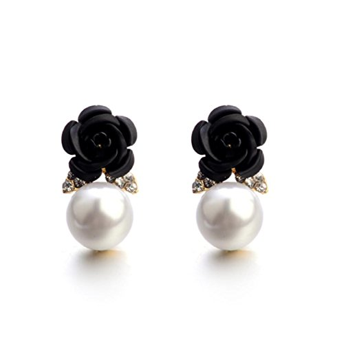 Auwer Stud Earrings, Fashion Jewelry Bohemia Flower Rhinestone Earrings For Women Summer Style - Bangle Stud