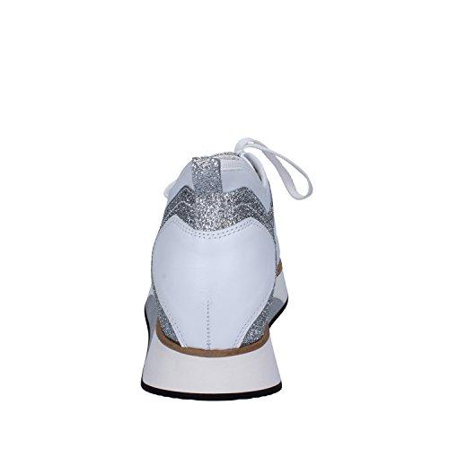 Guardiani Sneakers Mujer 39 EU Blanco/Plata Cuero/Glitter