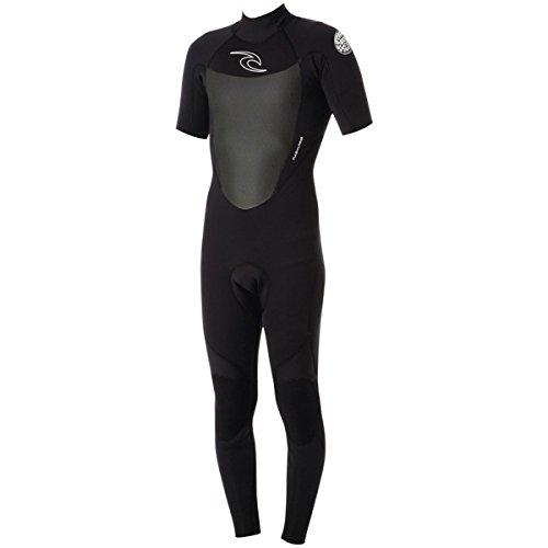 Rip Curl Dawn Patrol Bz 2/2 Short Sleeve Full Wetsuit, Black, Medium/Small (Wetsuit Curl Short Rip Sleeve)