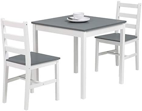 Mecor 3 PC Wood Kitchen Dining Table Set