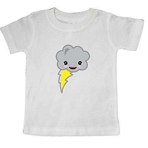(inktastic - Cute Kawaii Storm Cloud with Baby T-Shirt 12 Months White 2b2e)