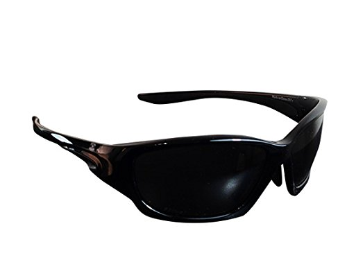 Brand X Safety X5 Series Safety Glasses with Fixed Rubber Bridge and Bent Temples, Neutral Gray Anti-Fog Lens, Glossy Black Frame (Box of 10 Pairs)
