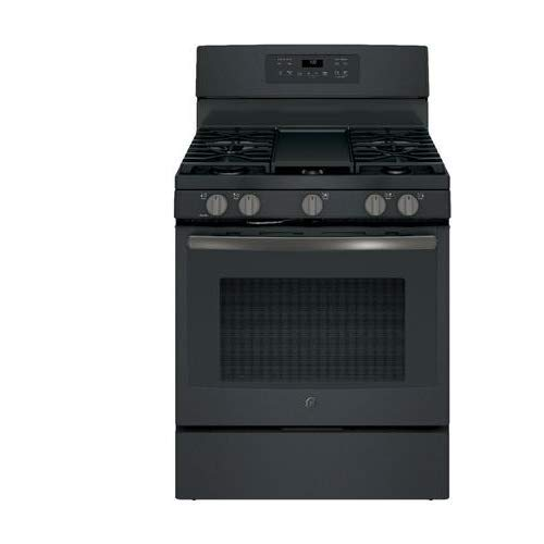 GE 5.0 Cu. Ft. Freestanding Gas Convection Range Black Slate JGB700FEJDS